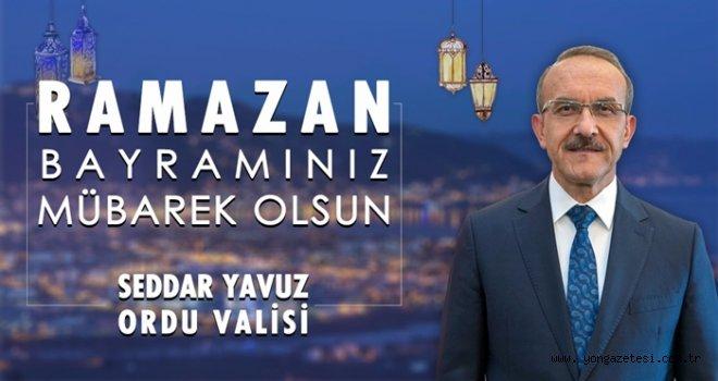 Vali Seddar Yavuz'un bayram mesajı…