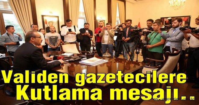 Vali Yavuz'un 24 Temmuz kutlama mesajı..