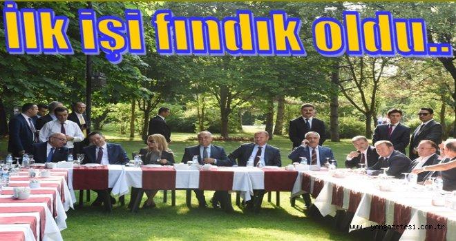 YEDİYILDIZ, TARIM BAKANINA FINDIĞI ANLATTI..