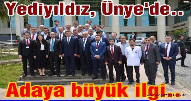 YEDİYILDIZ'A ÜNYE'DE BÜYÜK İLGİ..
