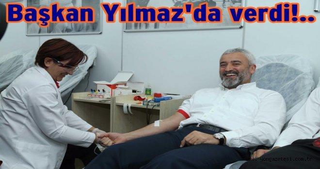 Başkan Enver Yılmaz, kan bağışı için destek verdi..