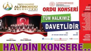 Altınordu Belediyesinden Türk sanat müziği konseri..