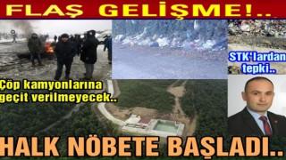 Çaybaşı-İlküvez halkından katı atık tesislerine tepki..