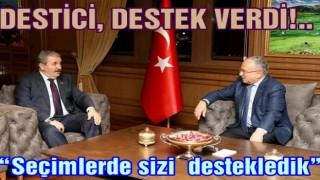 DESTİCİ'DEN BAŞKAN HİLMİ GÜLER'E ZİYARET..