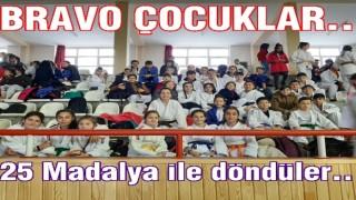JUDOCULAR SİVAS'TA DERECEYE GİRDİLER..
