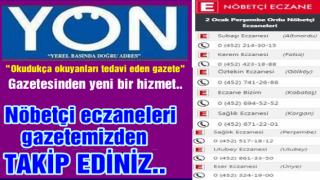 Ordu'da Nöbetçi Eczaneleri gazetemizden takip edin..