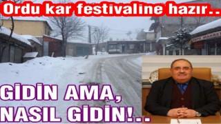 Pazar günü Çambaşı kar festivali varmış..