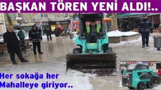 Altınordu Belediyesi küçük boylu kısa kar temizleme aracı aldı..