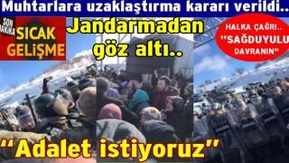 İlküvezde ortam gergin, Jandarma ile halk karşı karşıya geldi..