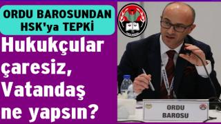 ORDU BAROSU, HSK ÜYELERİNİ İSTİFAYA DAVET ETTİ..