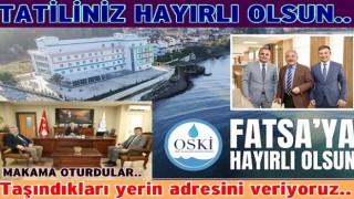 OSKİ Genel müdürü Fatsa'daki makamına oturdu..