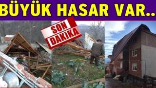 Şiddetli fırtınadan Okullar bugün tatil edildi..