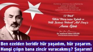 12 Mart istiklal marşının kabulünü kutladı..
