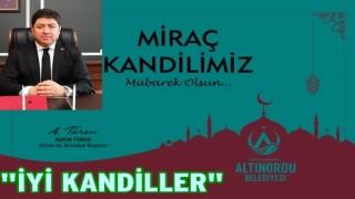 BAŞKAN TÖREN'DEN MİRAÇ KANDİLİ MESAJI..