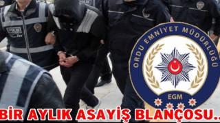 Ordu'da 50 kişi yakalandı 12 kişi tutuklandı..
