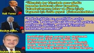 10 Nisan Polis günü kutlama mesajı yayınladılar..