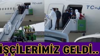 Yurt dışında çalışan işçiler Ordu Hava limanına indiler..