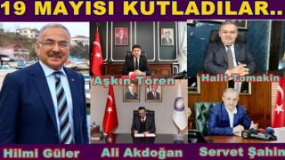 Başkanlar 19 Mayıs kutlama mesajı yayınladılar..
