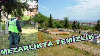 BAYRAM ÖNCESİ MEZARLIK HAZIRLIĞI..