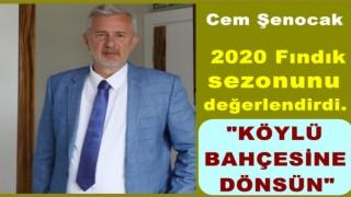 """Şenocak, """"Fındıkta ihracat artıyor, üretim yerinde duruyor.."""""""