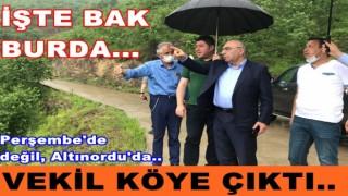 Başkan Tören ile Milletvekili Altınordu'nun köylerinde..
