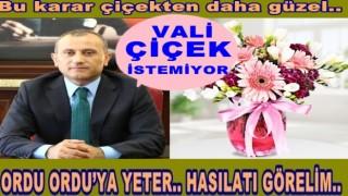 Ordu'ya atanan vali Tuncay Sonel, çiçek istemiyor.