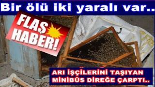 PERŞEMBE'Lİ ARICILAR ARACI KAZA YAPTI..