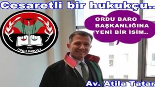 Av. Atila Tatar, Baro başkanlığına adaylığını açıkladı..