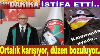 Av. Haluk Murat Poyraz istifa etti..