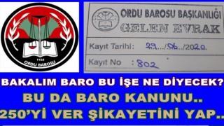 Av. Yahya Kemal Yılmaz'ı Baro'ya da şikayet ettik..