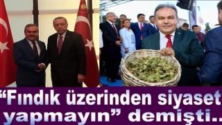 FINDIK ÜZERİNDEN İLK SİYASETİ HALİT TOMAKİN YAPTI..