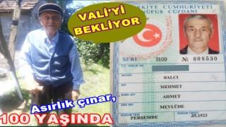 """PERŞEMBE'Lİ ASIRLIK DEDE, """"BENDE VALİ'Yİ İSTİYORUM.."""""""