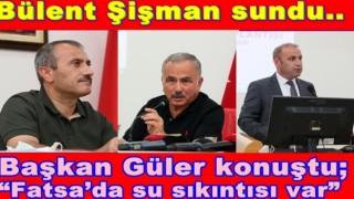 Vali Sonel, ile başkan Güler, el ele..