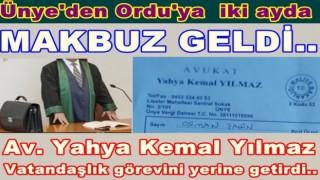 Av. Yahya Kemal Yılmaz Makbuzu 6 ay sonra gönderdi..
