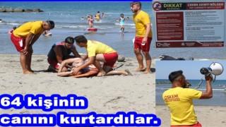 Plajda yüzenlerin hayatı OSKEM çalışanlarına bağlı..
