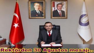 Rektör Prof. Dr. Ali Akdoğan'dan Kutlama Mesajı..