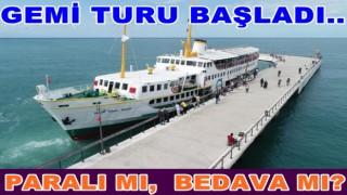 Şehit Temel Şimşir gemisi vatandaşların hizmetine açıldı.