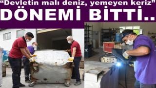 ÇÖP KONTEYNERİ YAMA YAPILIYOR..