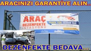 Altınordu Belediyesi araç dezenfekte istasyonu yeniden hizmete girdi..