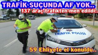 Bir haftalık kontrolde rekor trafik cezası kesildi..