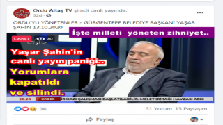 Gürgentepe Belediye başkanı Yaşar Şahin'e canlı yayında şok..