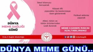 MEMENİZE SAHİP ÇIKIN KANSER OLMAYIN!..