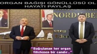 Belediye başkanlarından organ bağışına destek..