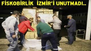 """Fiskobirlik """"Giresun'dan İzmir'e Gönül Köprüsü'' yardımı.."""