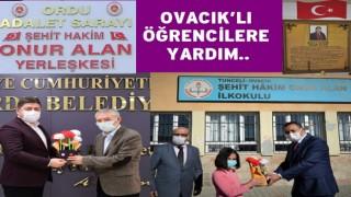 """""""Şehit Hâkim Onur Alan İlkokulu""""na çanta yardımı."""