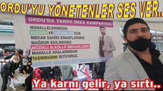 Şehrin huzuru için Muhtardan imza kampanyası..
