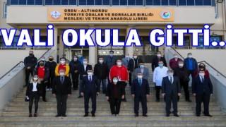 Vali Sonel, Teknik Anadolu lisesini ziyaret etti..