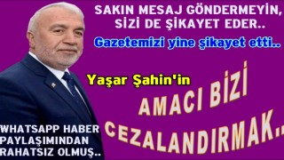 """Yaşar Şahin, """"Bana mesaj gönderiyor beni rahatsız ediyor"""" dedi.."""