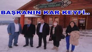 AKP'li başkan, CHP'li başkanı ağırladı..