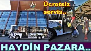 Altınordu Belediyesi pazara ücretsiz servis yapıyor..